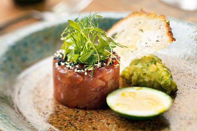 Tuna tartare at Table No. 1.