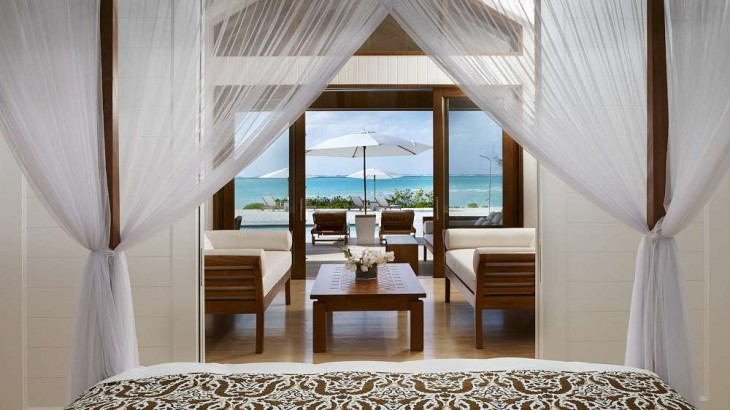 A view of the new two-bedroom beach house.