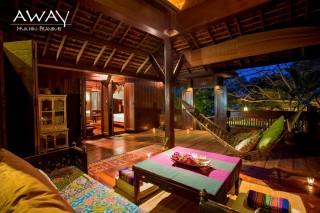 A room in a two-bedroom villa.