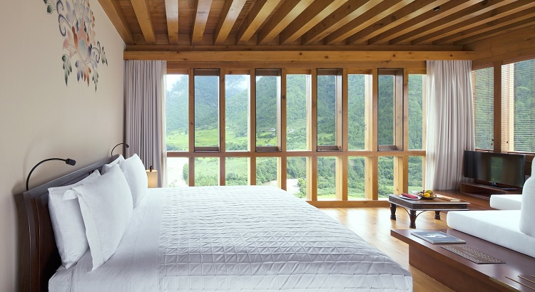Wake up like this at Uma Punakha.