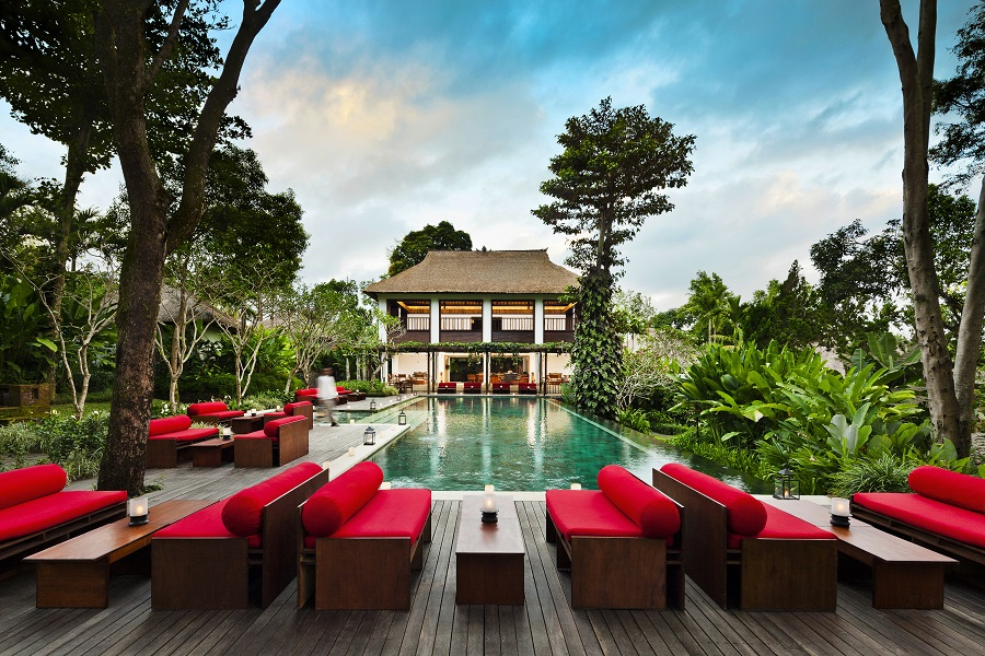The pool at Uma by COMO, Ubud.