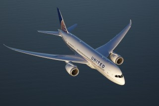 United's Boeing 787-9 Dreamliner.