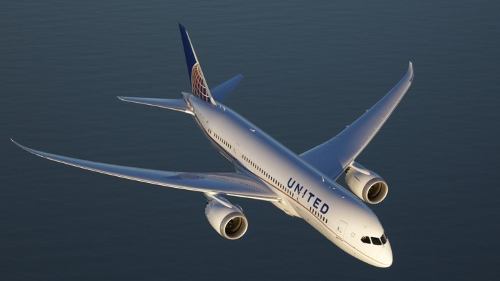 United's Boeing 787-9 Dreamliner.