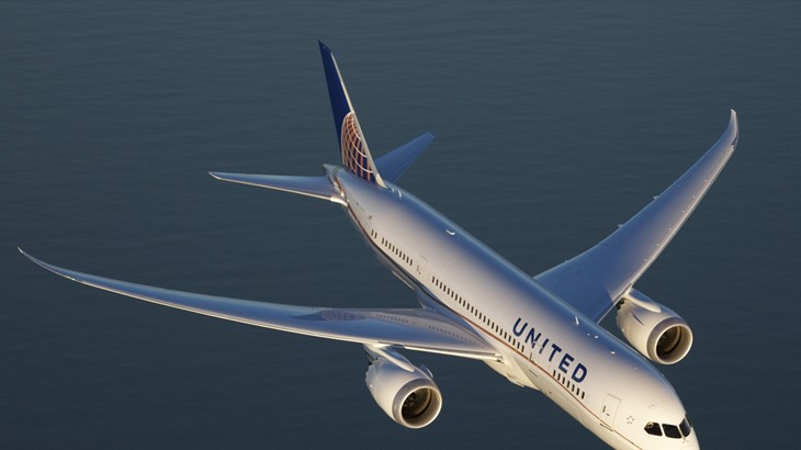 United Boeing 787 Dreamliner cropped