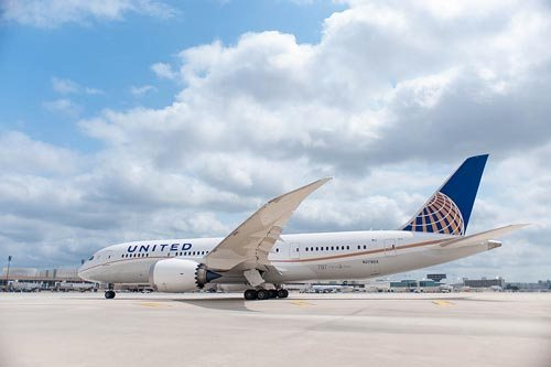 United was the U.S. launch customer of the Boeing 787 Dreamliner.