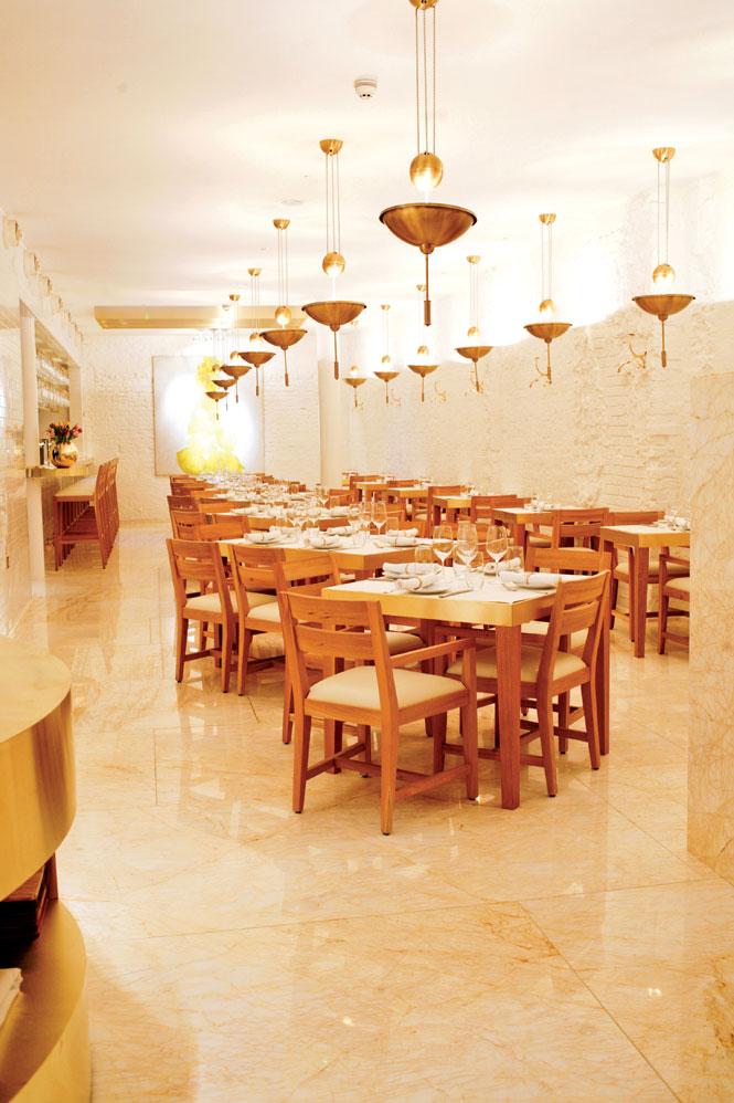 The dining room at Nopi.