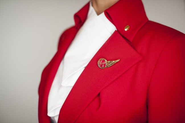 Vivienne Westwood's uniforms for Virgin Atlantic.
