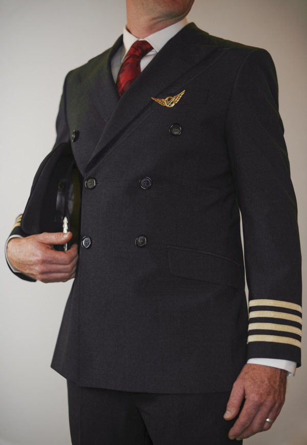 The male pilot's uniform.