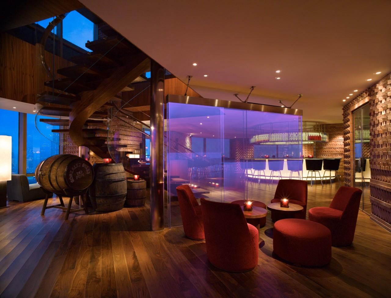 VUE's minimalist luxe interiors.
