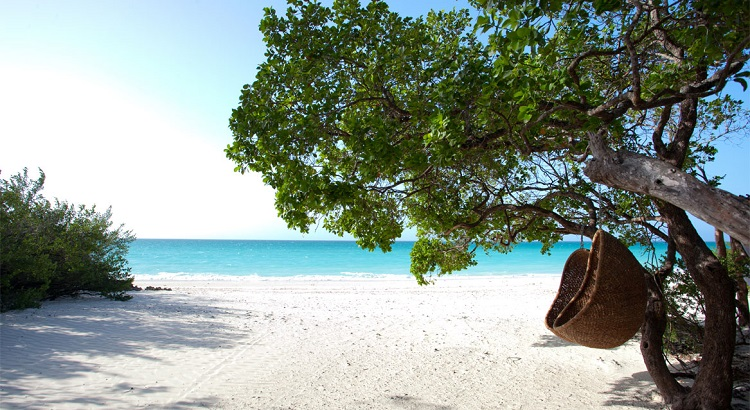 A quiet beach for guests staying at the Casamina private villa.