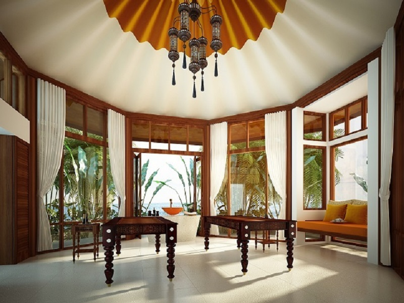 The spa comprises five treatment rooms, two solely dedicated to Ayurvedic treatments.