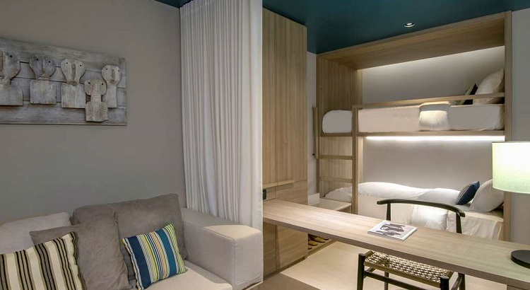 The family suite at Veranda Pattaya comes with a comfy bunk bed for the kids.