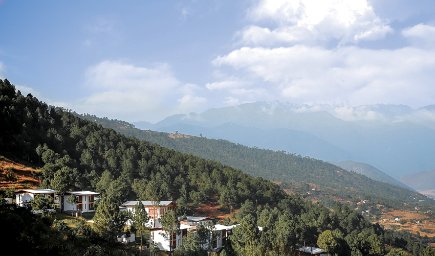 A three-hour journey through mountain roads leads to the property.