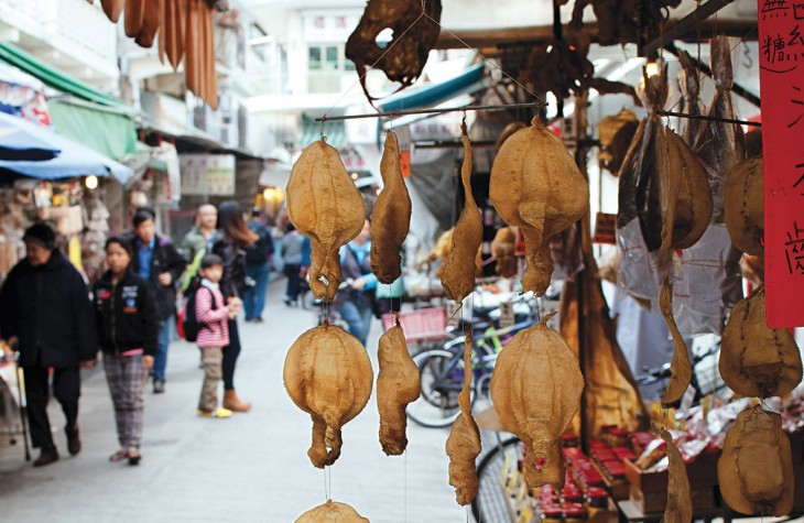 Dried fish for Sale in Tai O's Busy Market