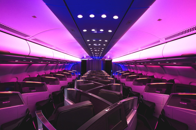 Virgin Atlantic's Business Class cabin was voted the best by travel agents around the world.