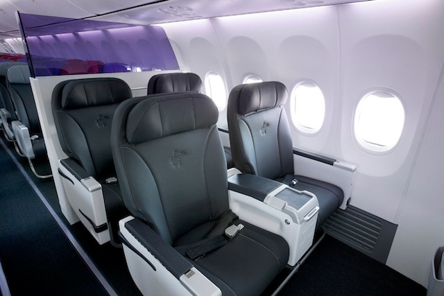 Business Class is configured in 2-2 seating with 97-centimeter pitches.