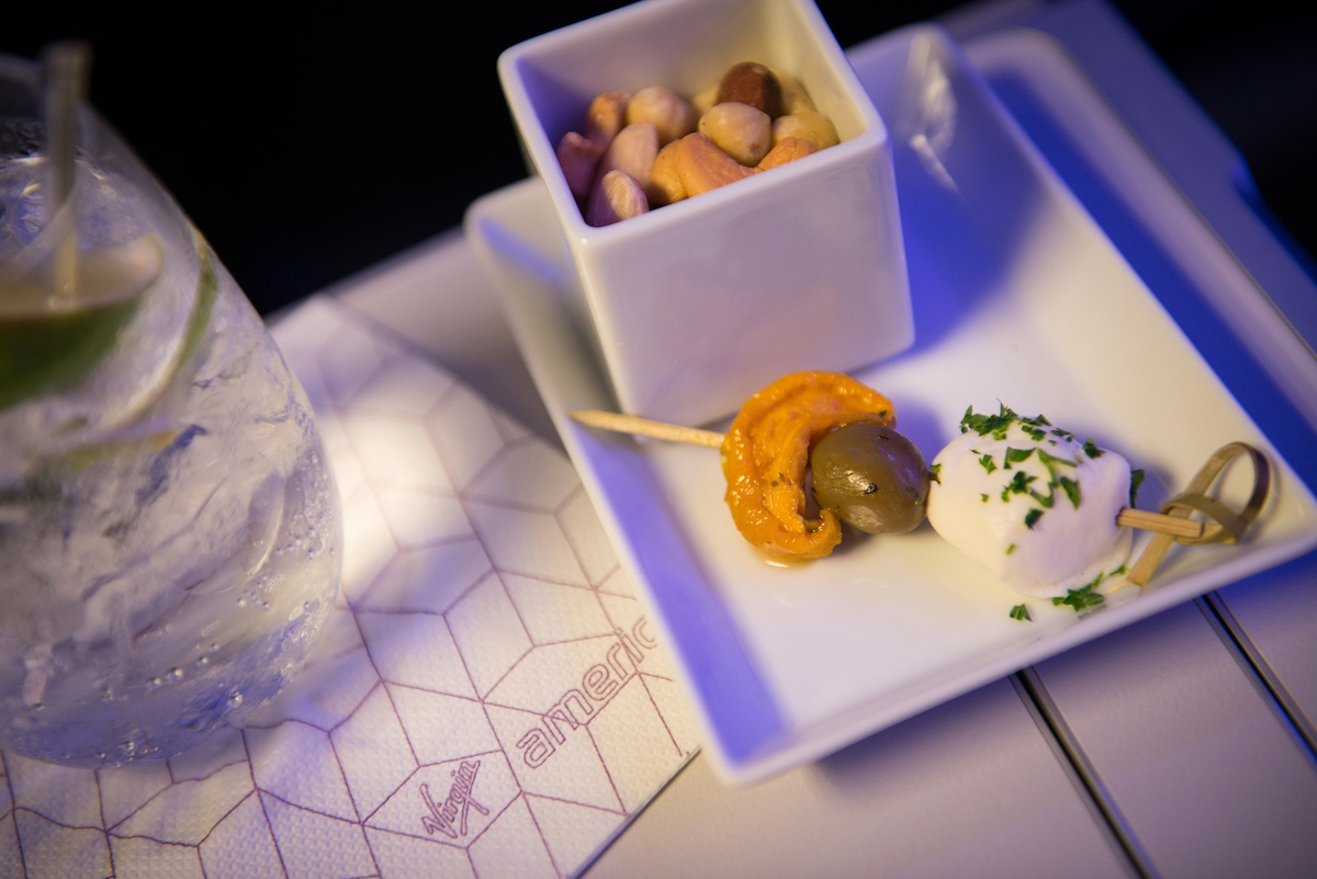 A sampling of Virgin's new cocktail hors d' oeuvre.