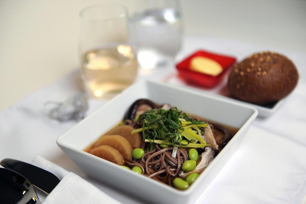 Soba noodles with lemongrass shiitake broth.