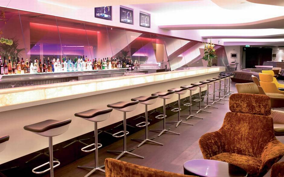 The Virgin Atlantic Clubhouse in London Heathrow's is this year's World's Best Business Class Lounge.