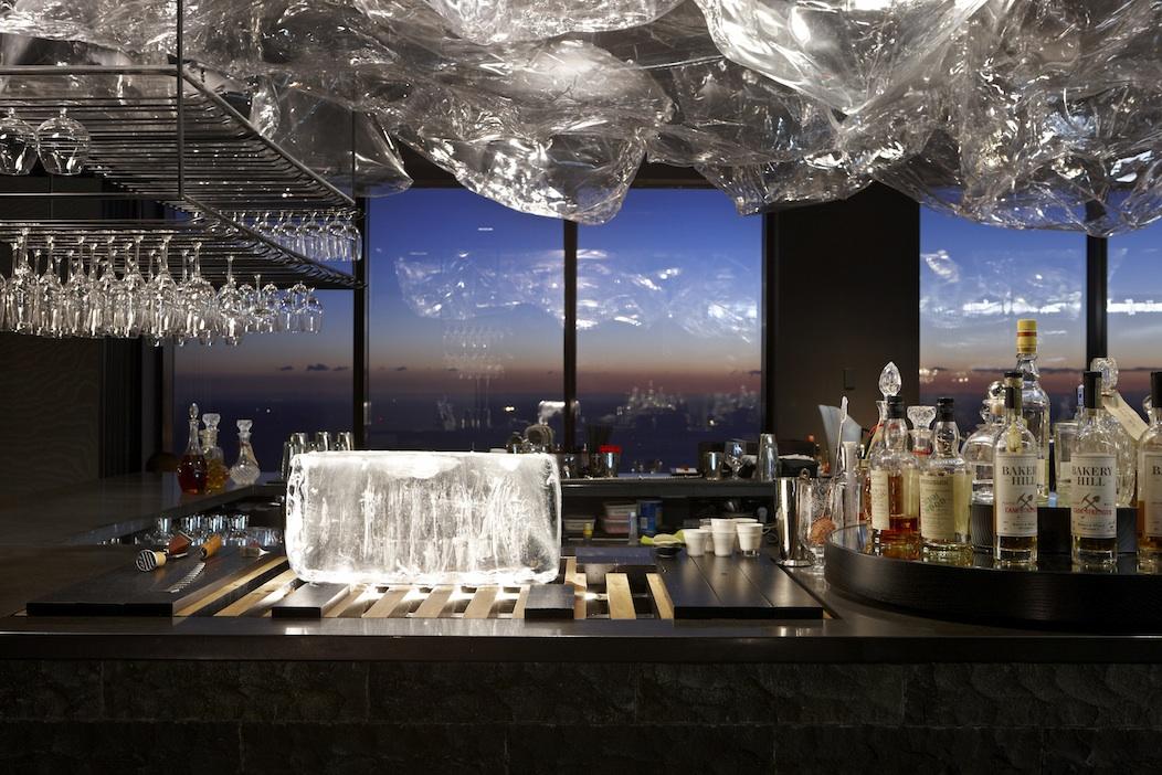Vue de Monde's Lui bar at dusk. Photo by Dianna Snape