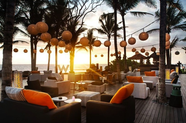 Sunset views at W Bali's Woobar.