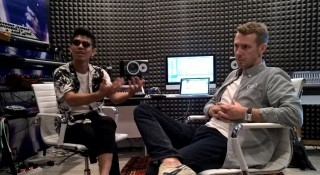 Hasnor Sidik and Damian Saint inside the brand new Sound Suite music studio.