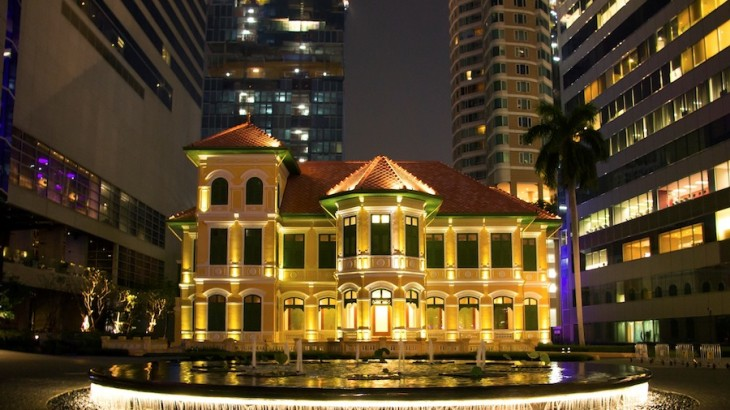 On Sathorn Road, the restaurant is housed in a 126-year-old mansion that formerly served as the Russian Embassy.