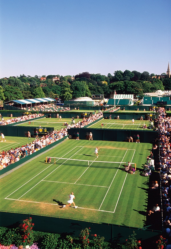 Grass courts at Wimbledon.