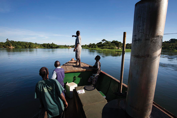 The boat offers rides along the Nile river.