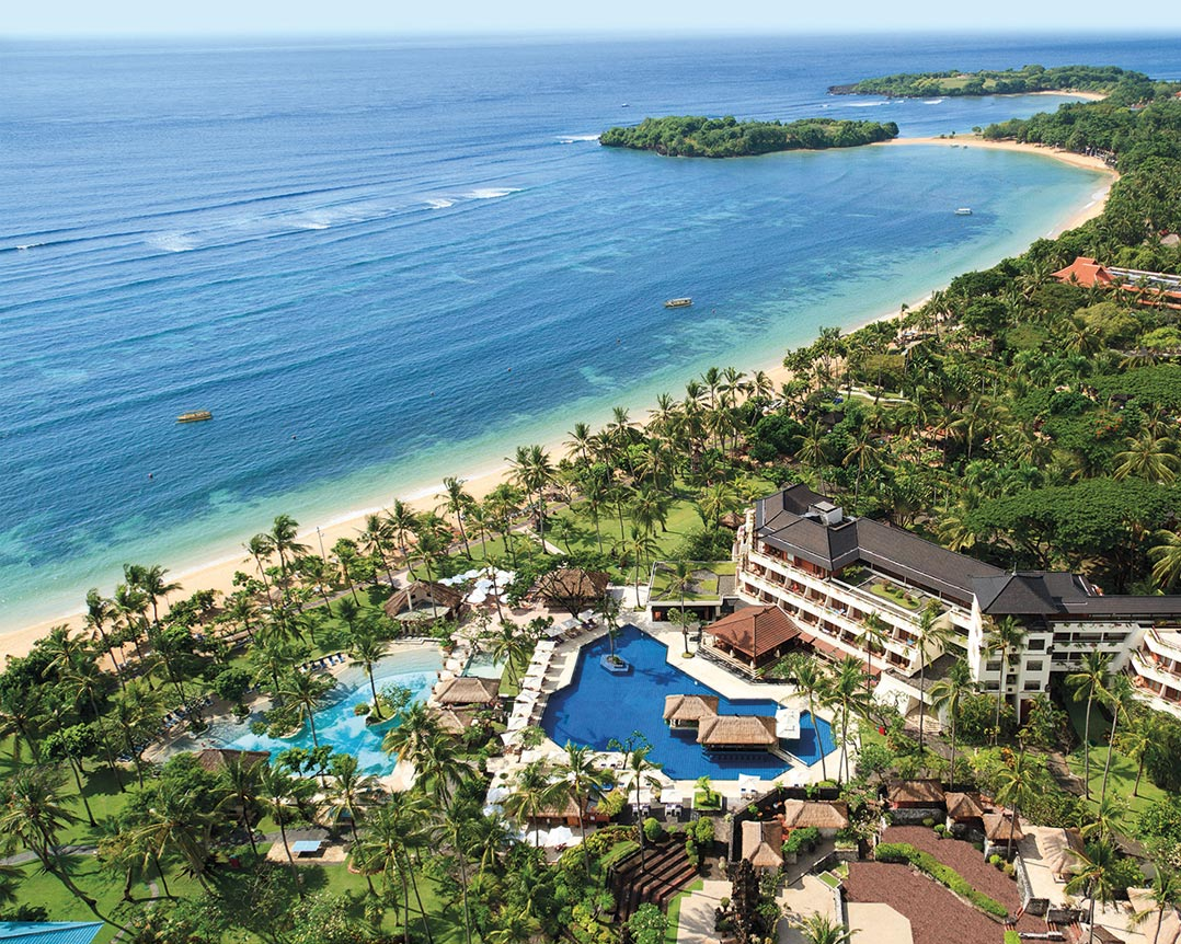 An aerial shot of Nusa Dua Beach Hotel.
