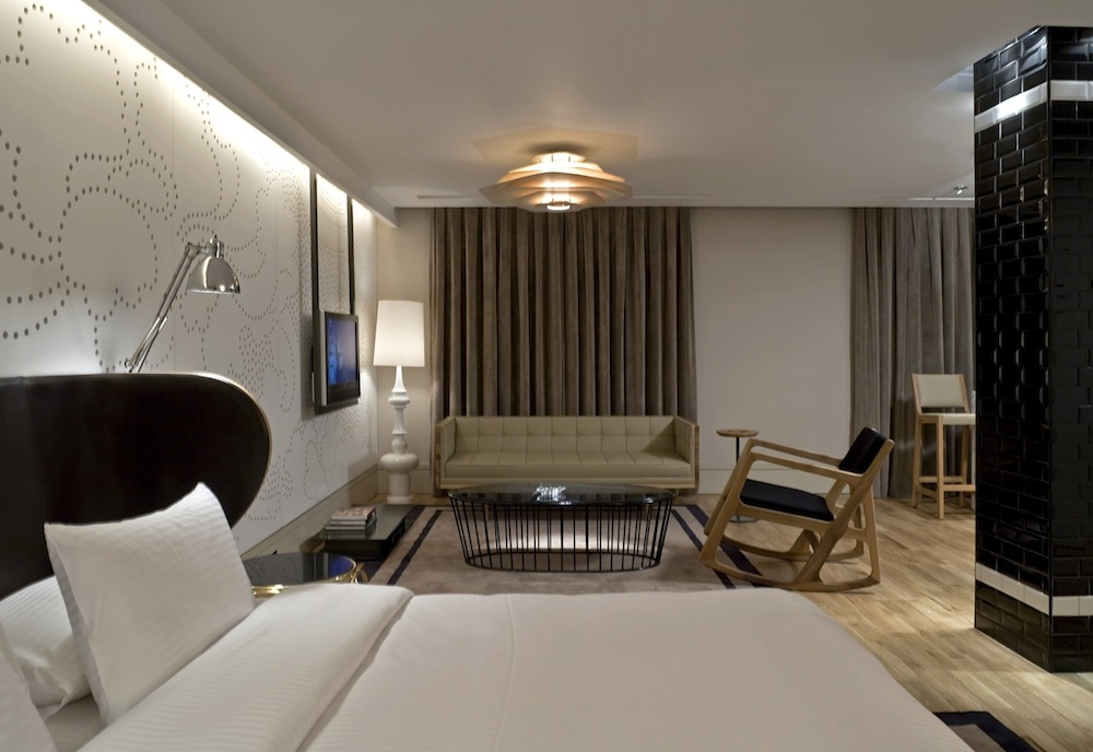 A suite at the hotel.