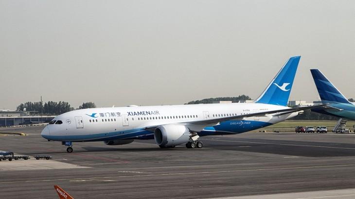 Xiamen Airlines' Boeing 787.