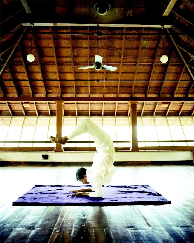 Yoga is a major component of Kalari's wellness programs.