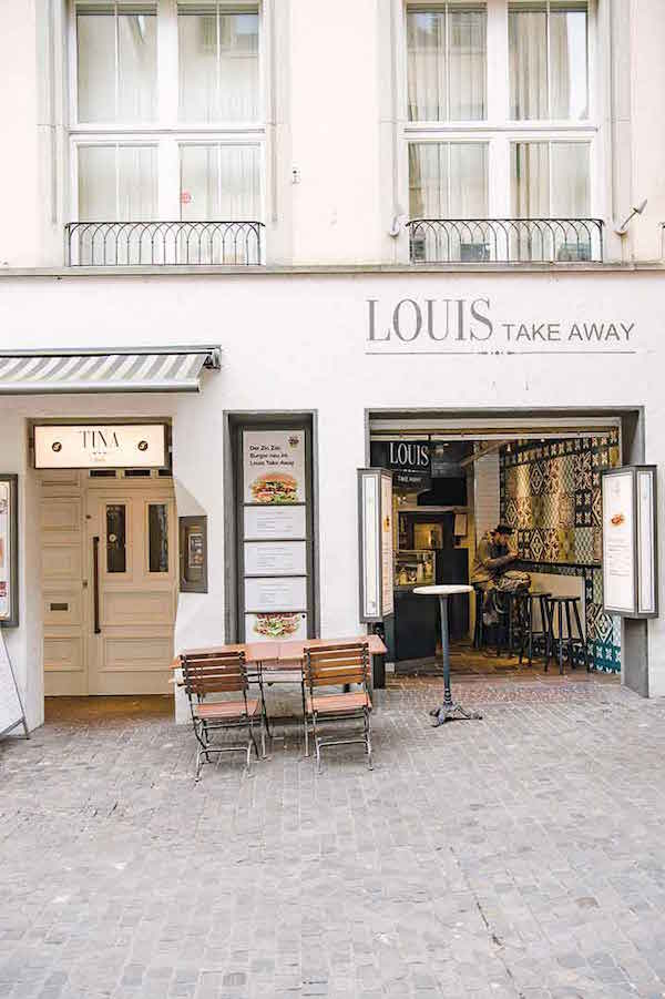 Brasserie Louis, famous for its takeaway steak sandwiches.