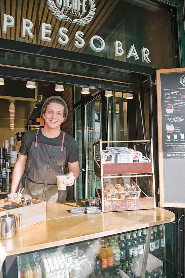 The espresso counter at ViCafe.