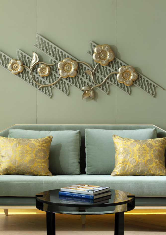 The design theme: modern with a touch of Indonesia.