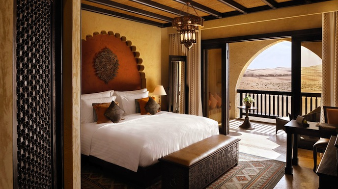 A deluxe room at the resort.