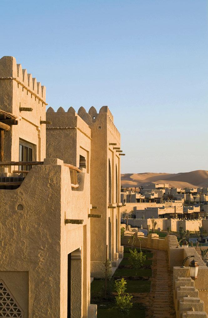 The fortresslike Qasr Al Sarab resort.