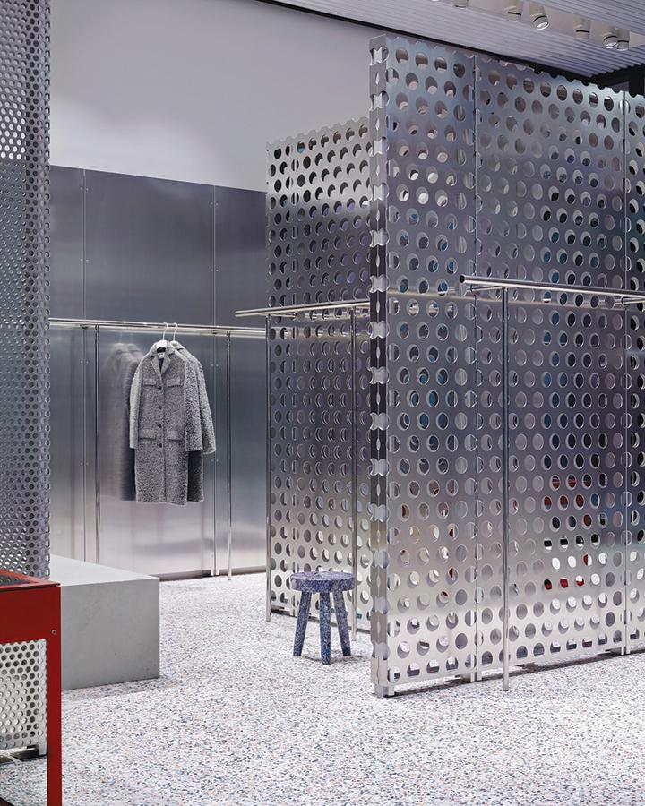 Inside Acne Studios' Little Bourke Street boutique.