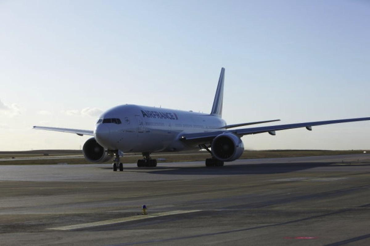 The Air France B777-300.