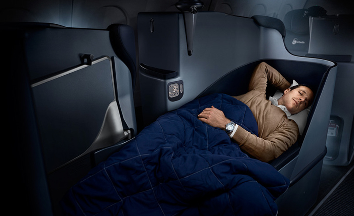 Airberlin is the first German airline to offer fully flat seats on all long-haul business-class flights.