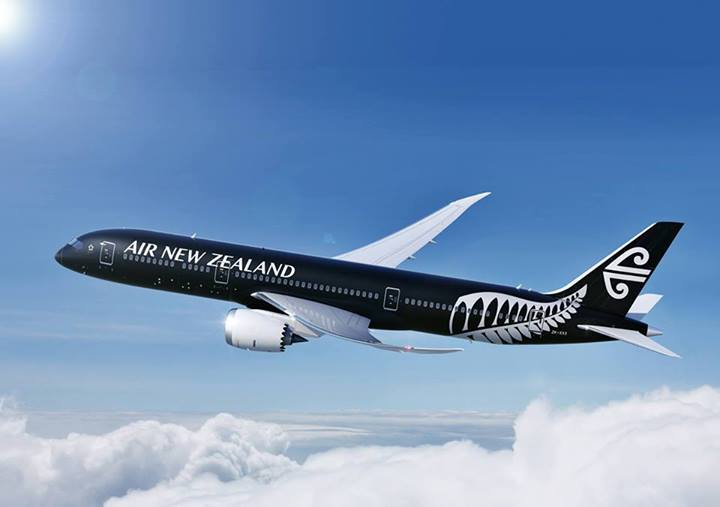 The new Boeing Dreamliner 787-9 in Air New Zealand livery.