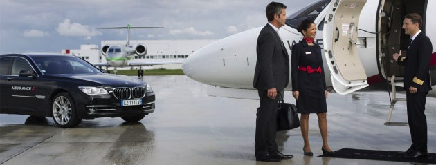 The jets can be hired for travel to or from Charles de Gualle airport.