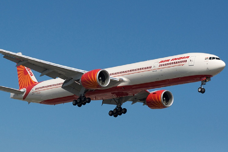 The Air India Boeing 777-300.