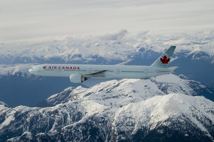 Air Canada's B777 fleet serves most international destinations.
