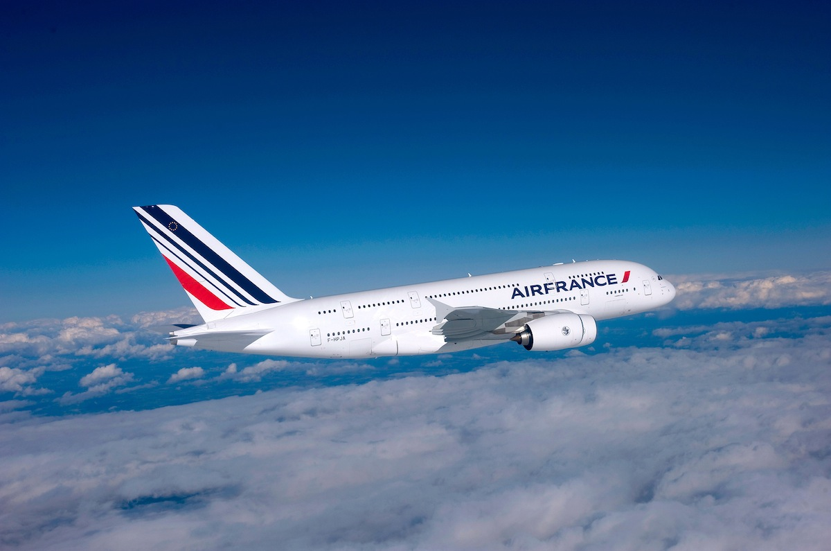 Air France's A380 has four classes of service on its two decks.
