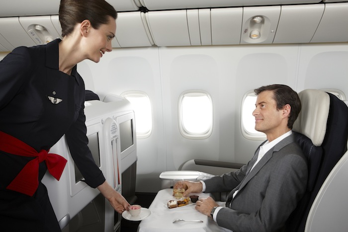 Air France's Business Class service.