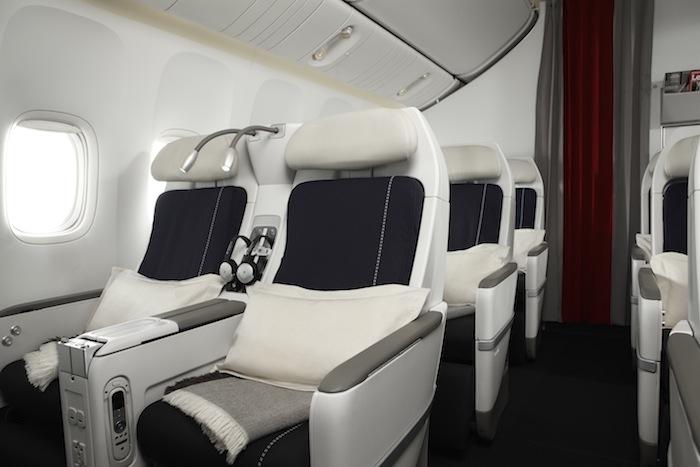 Air France's Business Class seats.