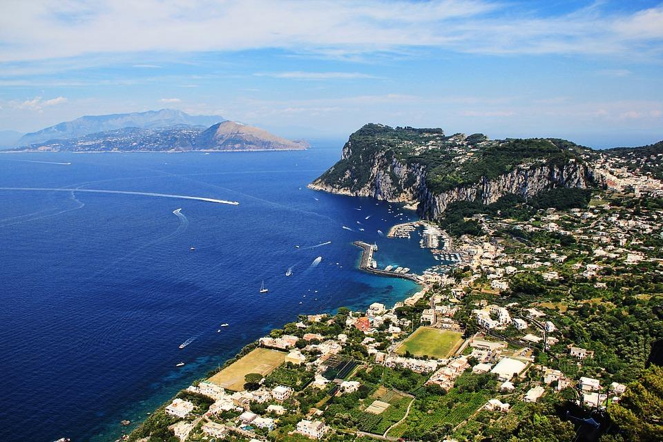 A look of Capri from Anacapri.