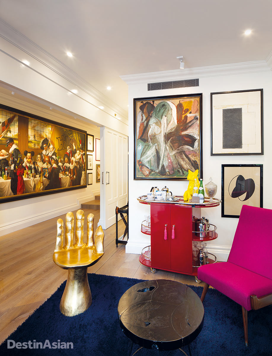 The Art Collector's Suite at Hotel Pulitzer.